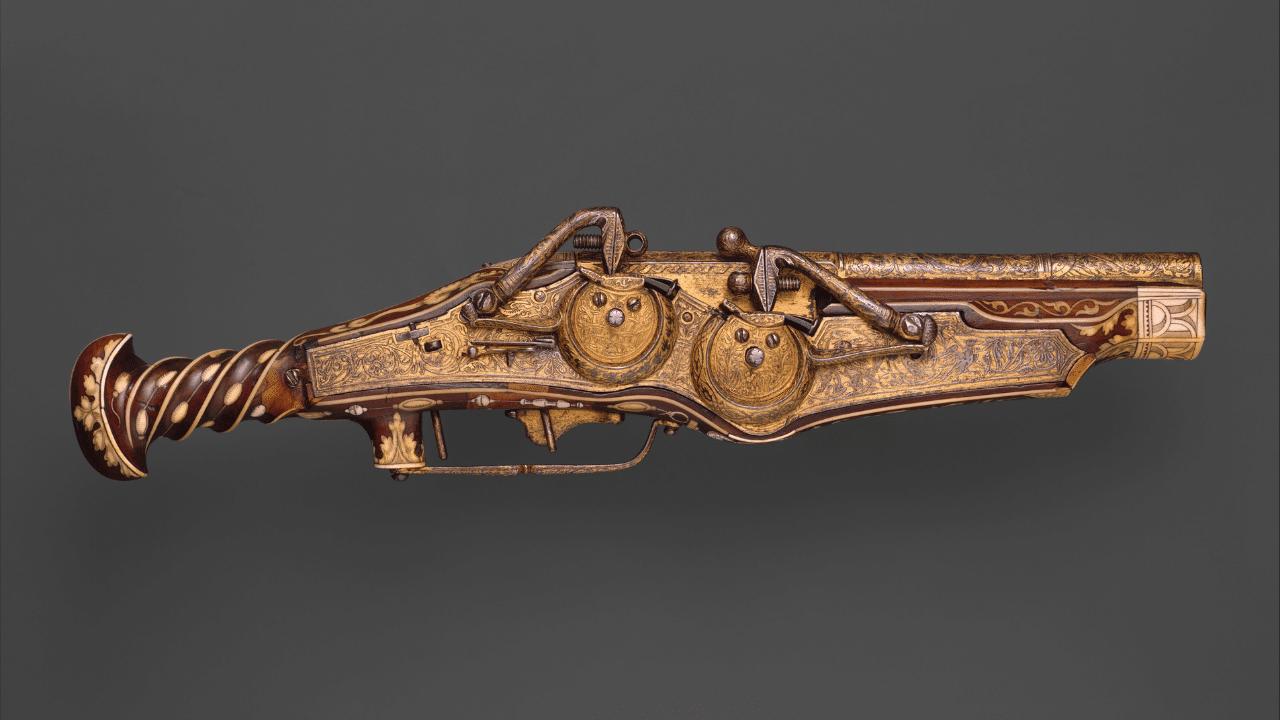 Double-Barreled Wheellock Pistol, ca. 1540–45 (Made for Emperor Charles V (reigned 1519–56)