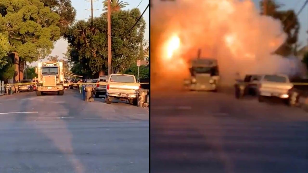 LAPD Explosives Truck